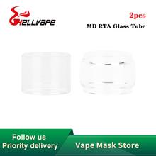 Oryginalna szklana rurka Hellvape MD RTA 2ml 4ml pojemność dla Hellvape MD elektroniczny papieros rta Vape Hellvape szklana rurka tanie tanio Hellvape MD RTA Glass Tube Szkło