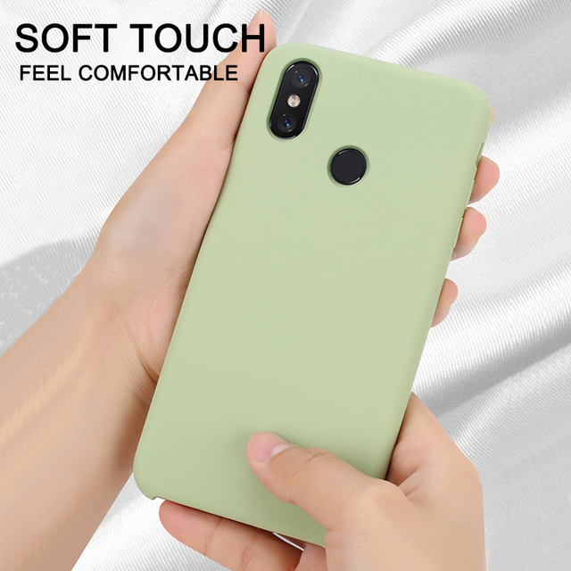 Official Style Silicone Case For Xiaomi Redmi Note 9s 8 7 6 5 K20 Pro 8T 8A 5 Plus Mi Note 10 Lite 9 8 SE 9T Pro A2 Mix 2s Cover
