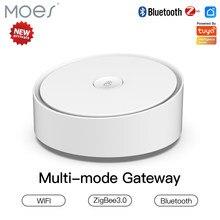 Moes Smart Gateway multimodale ZigBee 3.0 WiFi Bluetooth Mesh Hub funziona con Tuya Smart App Voice Control tramite Alexa Google Home