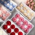 Сохраненные розы, неувядающая роза диаметром 4-5 см, «сделай сам», свадьба, вечная жизнь, цветочный материал, подарок, 8 шт./кор. уровень в