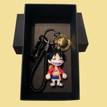 Fashion Bandai One Piece Keychain High-Quality Collection Figure Model Keychain Anime Key Chain Children Toy Birthday Gift Adult