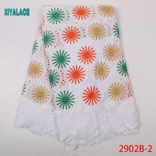 Настоящий воск супер Гарантированная африканская кружевная вощеная ткань высокого качества Горячая 5 ярдов африканская нигерийская кружевная ткань швейная YA2902B-2
