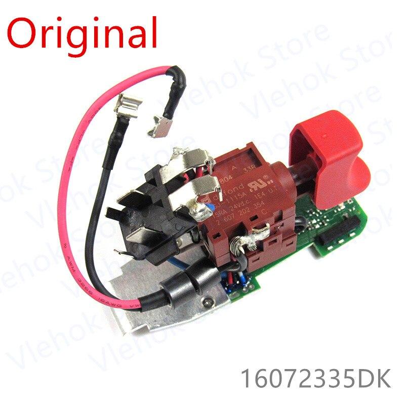Switch For BOSCH GSR10.8-LI-2 GSR12-2-LI GSR12V-15 BS10-A PS130 GSB10.8-2-LI GSB12-2-LI GSR10.8-2-LI 16072335DK