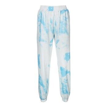 Rockmore Tie Dye Pencil Pants Plus Size Womens Streeetwear High Waisted Joggers Pink Harajuku Trousers Pockets Loose SweatPants 9