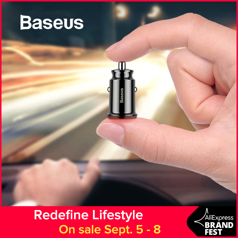 Baseus Car-Charger Tablet Mobile-Phone Mini-Usb For GPS