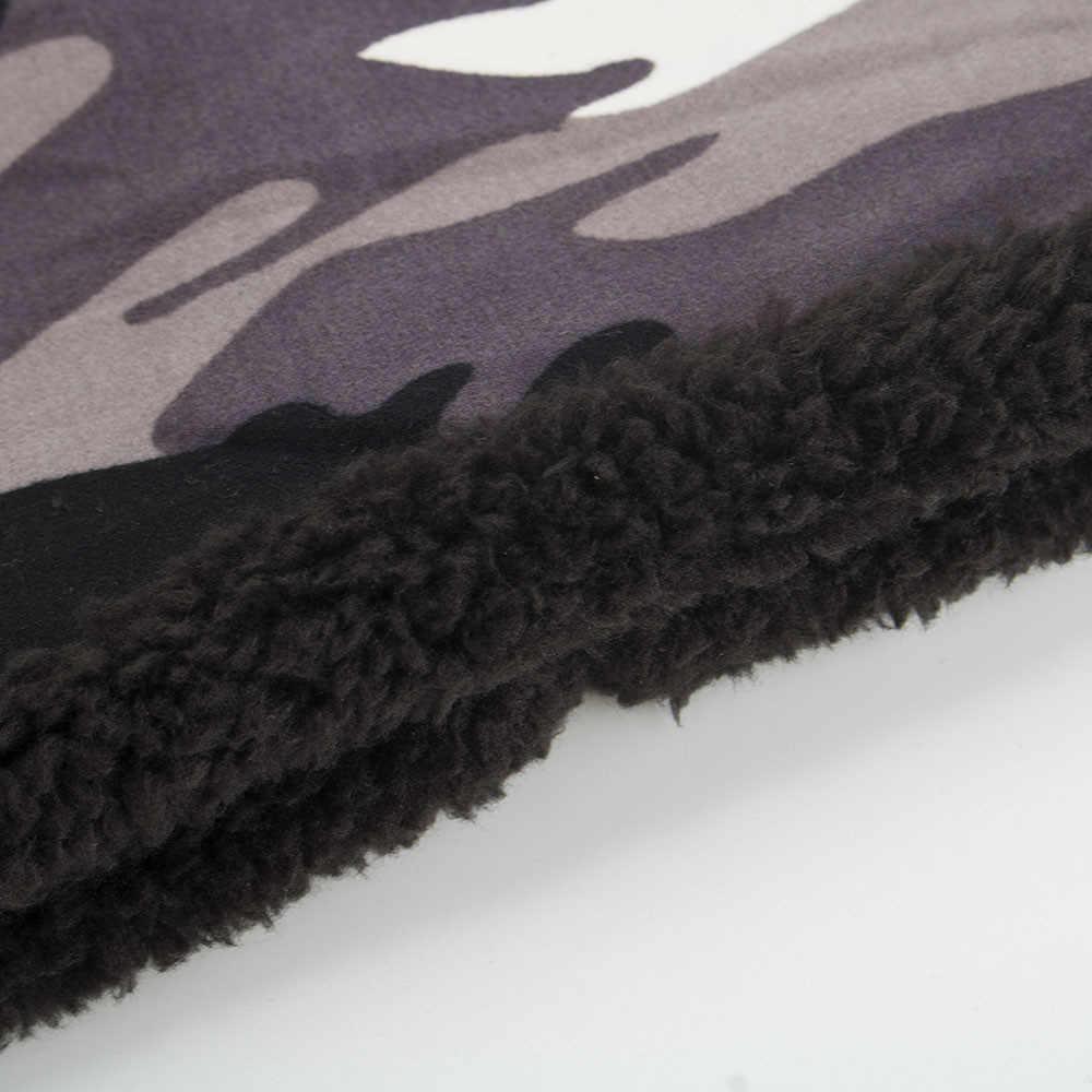 Nova moda unisex chapéus de inverno casual folgado camuflagem quente engrossar malha linhas grossas cabo chapéus estilo retro crochê boné
