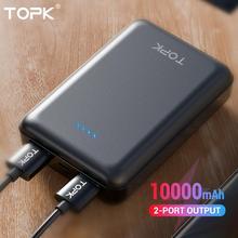 TOPK Mini Power Bank 10000 mAh Battery External Ban