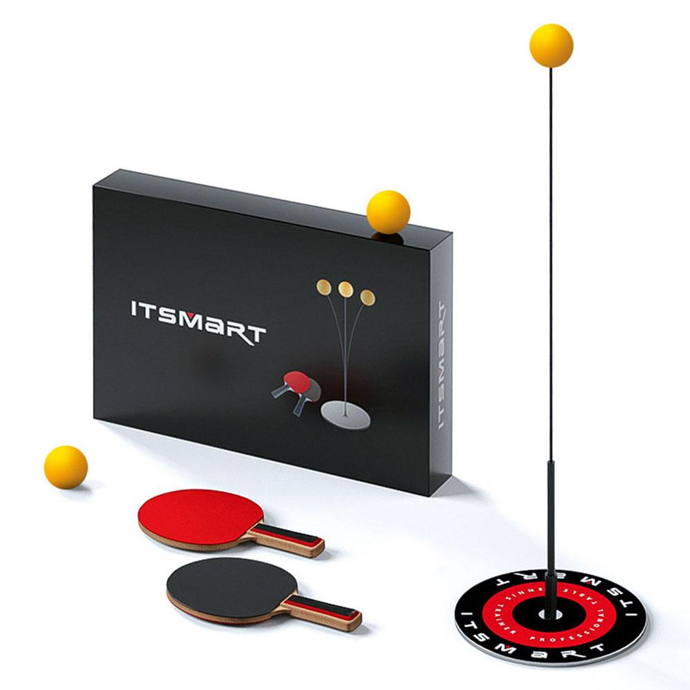Table Tennis Trainer With Elastic Soft Shaft Leisure Decompression Sports Table Tennis Set For Indoor Or Outdoor Use