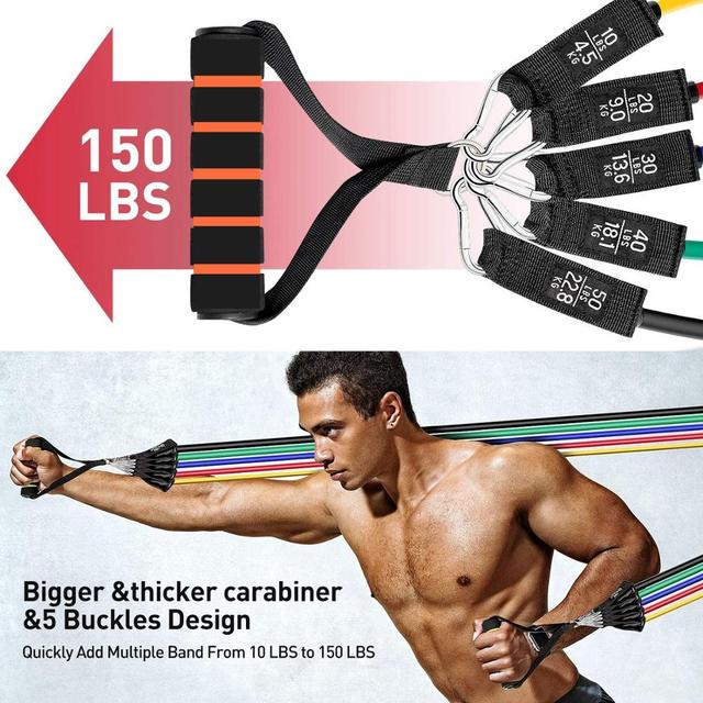 7/11/16pcs Fitness Resistance Band Yoga Workout Bands Pull Rope Exercise Training Expander Gym Equipment for Home Bodybuilding 3
