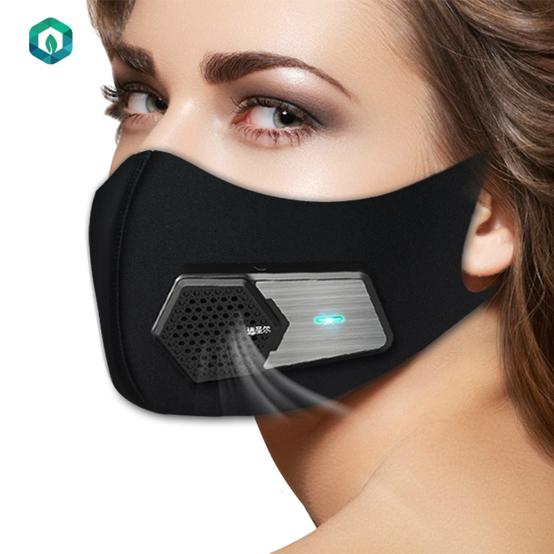 Smart Dustproof Electric Face Mask Anti-PM2.5 Industrial Protection Dust Dust Sports Sun-resistant Real Silk Mask Air Purifier