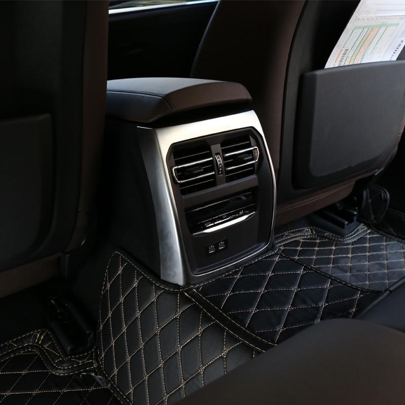 For BMW 3 Series G20 G28 325 2019 2020 Year ABS Chrome Car Rear Air Vent Frame Trim Accessories