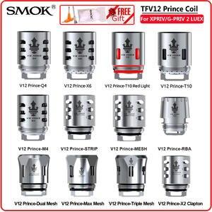 SMOK E-Cigarette Mesh Strip Vape Prince-Atomizer RBA X-Priv V12 Q4 Original M4 Glass