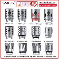 Original smok tfv12 príncipe bobina rba q4 m4 t10 malha tira e cigarro resistence núcleo de vidro para v12 príncipe atomizador x-priv vape
