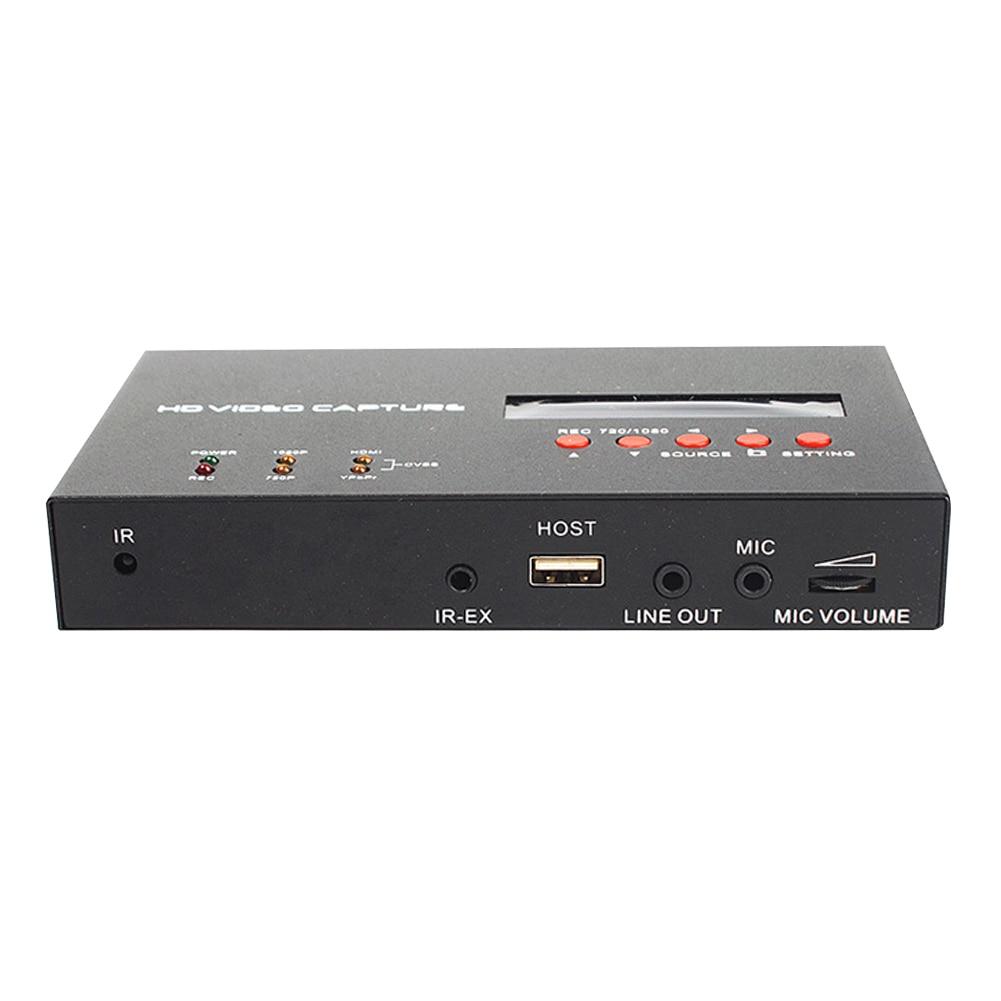 YY 283S Schwarz Converter Video Capture Box 1080P HDMI TV Aufnahme Karte ABS Durable Spiel Mikrofon Eingang Mit Fernbedienung - 2