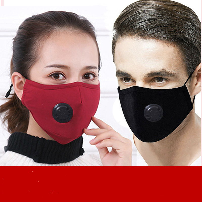 PM2.5 Cotton Masks Dustproof Anti-haze Protective Mask Breathing Valve Mask Pluggable Filter