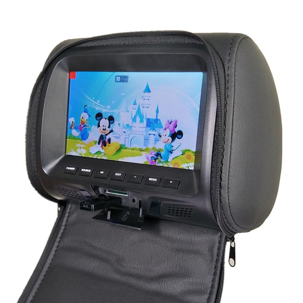 Универсальный автомобильный подголовник с 7-дюймовым экраном, MP5 плеер, монитор подушки, Поддержка AV/USB/SD вход/FM/динамик/наушники/Автомобильн...