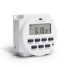 цена на DC 12V 7 Days Weekly Programmable Digital Timer Switch Time Relay Control 12 Volt in 12/24 Hours Format Clock with Countdown OFF