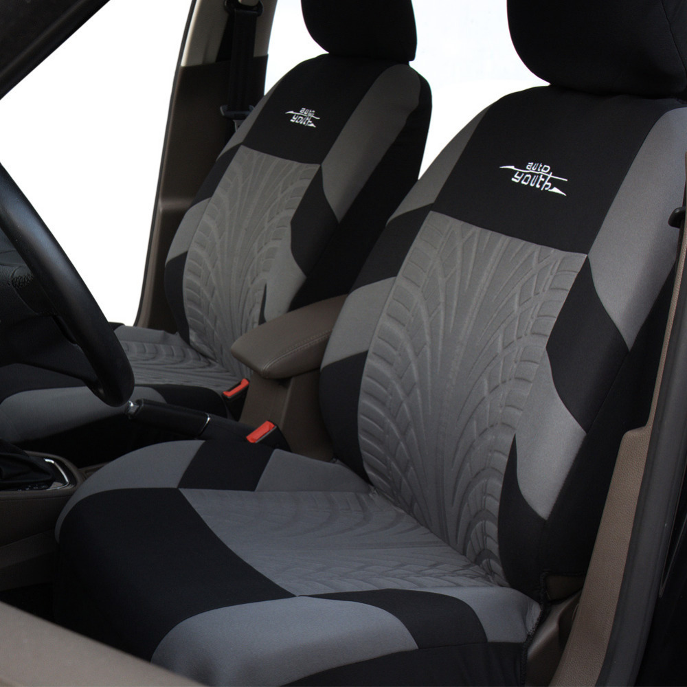 Embroidery 7-Sits Car Sedan Seat Cover Cushion Protector Set Tire Track Feature