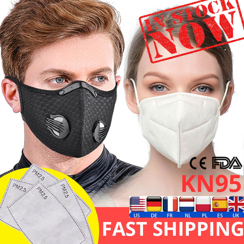 PM2.5 Face Mask N95 Replaceable KN95 Filters Anti Pollution Breathable Mouth Mask Respirator Washable Mouth-muffle FFP2