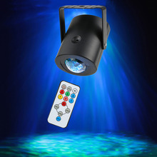 Led Stage Light Remote Control RGB Laser Projector Lighting Effect RGBW Water Wave Christmas Party Dance Disco DJ Holiday Lights cheap Micogreen Mini led water wave stage light 90-240V Home Entertainment 15 Color Mode Waterwave Lights with Remote Control
