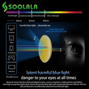 Image 3 - SOOLALA 안티 블루 라이트 고양이 눈 합금 독서 안경 여성 클리어 렌즈 안경 노안 안경 0.5 0.75 1.25 1.5 1.75 to 5.0