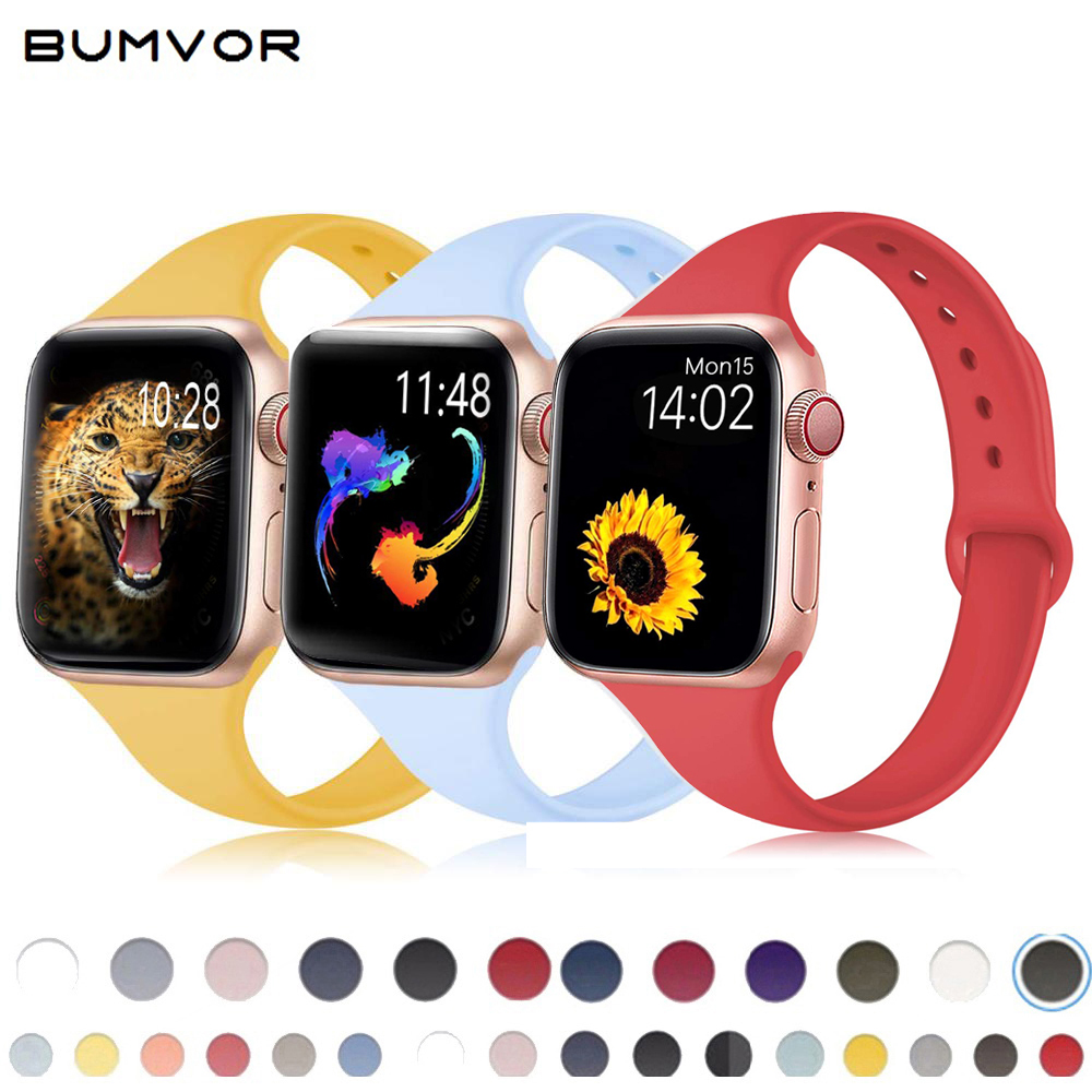 Silicone Straps For Apple Watch Band 38mm 42mm Bands Bracelet Silicone Strap For Apple Watch 5/4/3/2/1 44mm 40mm Watchbands