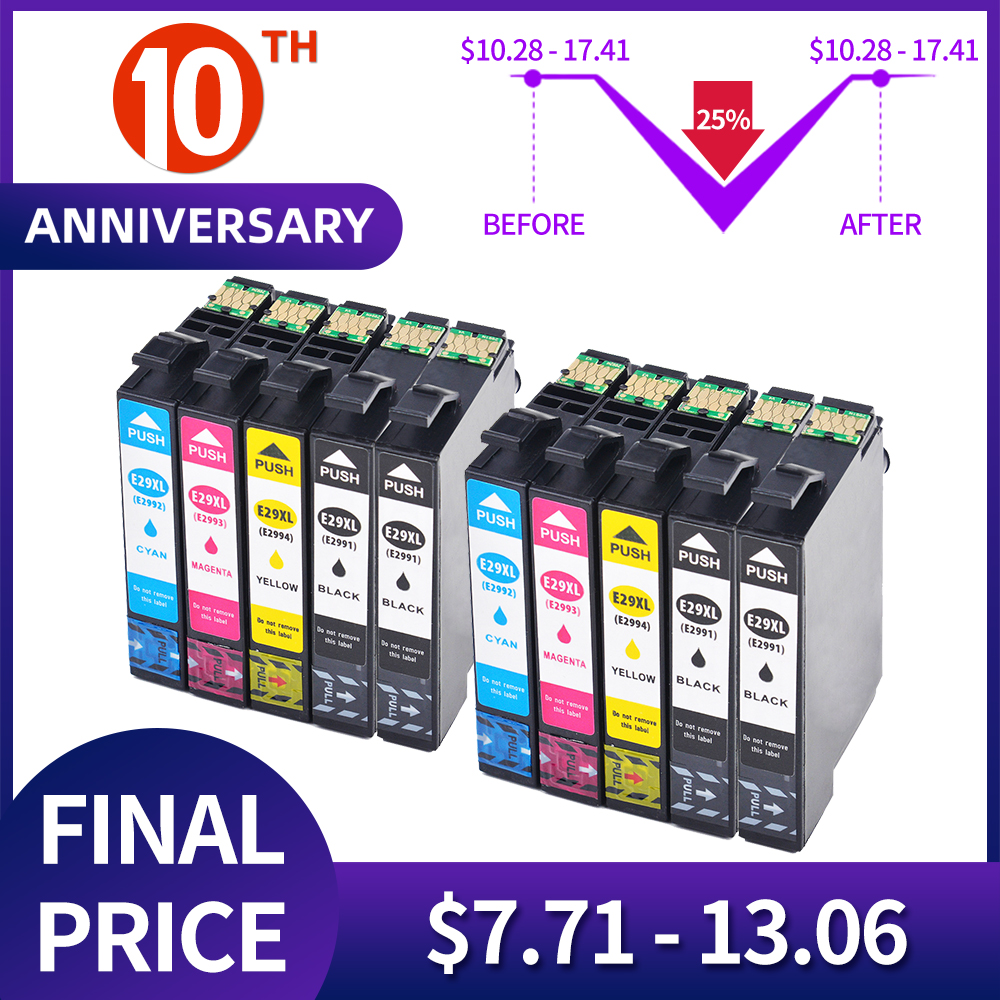 QSYRAINBOW T2991 Ink Cartridge With Lasted Chip Compatible For Cartouche Encre Epson Xp 245 Xp 235 Xp-342 Xp-435 XP-442 XP-345