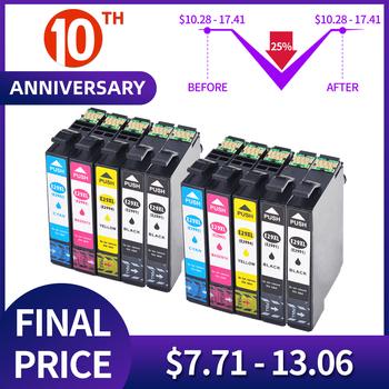 QSYRAINBOW t2991 wkład atramentowy z trwałym chipem kompatybilny z cartouche encre epson xp 245 xp 235 xp-342 xp-435 XP-442 XP-345 tanie i dobre opinie Pełna T2991 T2992 T2993 T2994 New compatible full ink Black 18ml Cyan Magenta Yellow Photo Black 15ml per color C M Y K