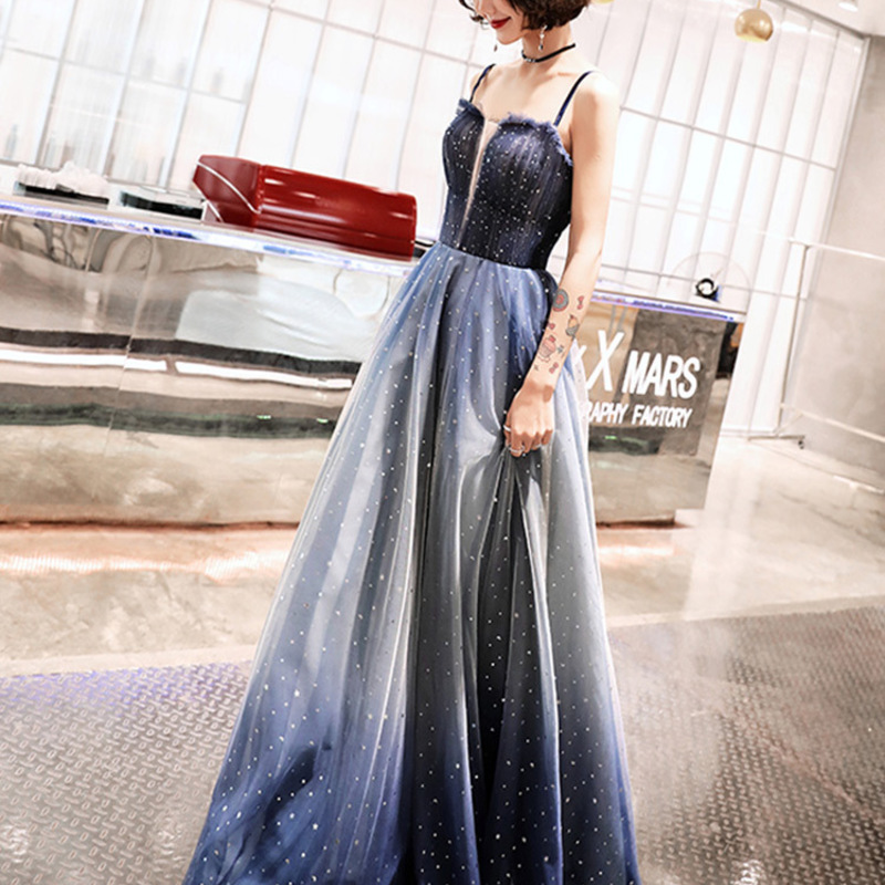 2020 Vestido De Festa Gengli Evening Dresses Female 2020 New Socialite Condole Belt Dust Dream Party Toastmaster Long Birthday