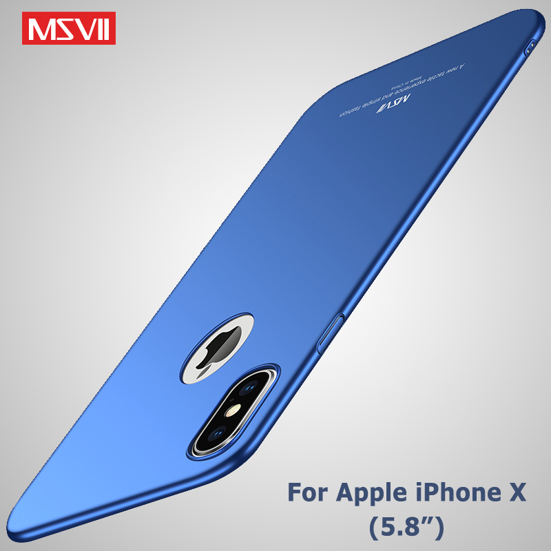 For iPhone X XS XR Case Cover MSVII Silm Case For Apple iphone XS Max Coque Ultra Thin PC Cover For iPhone XR Case For iPhonex