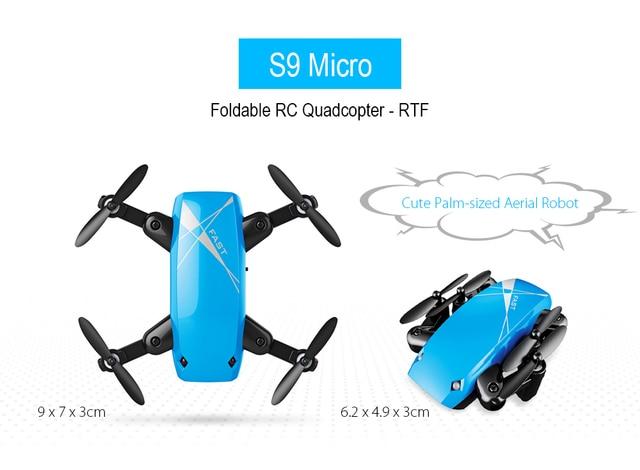 S9HW Mini Drone With Camera S9 No Camera RC Quadcopter Foldable Drones Altitude Hold RC Quadcopter WiFi FPV Pocket Dron VS CX10W 2