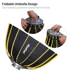 Image 2 - Nicemoto Softbox Hexagonal de Instalación rápida, 60cm/23,6 pulgadas, con paño difusor suave para luz de fotografía de estudio Speedlite