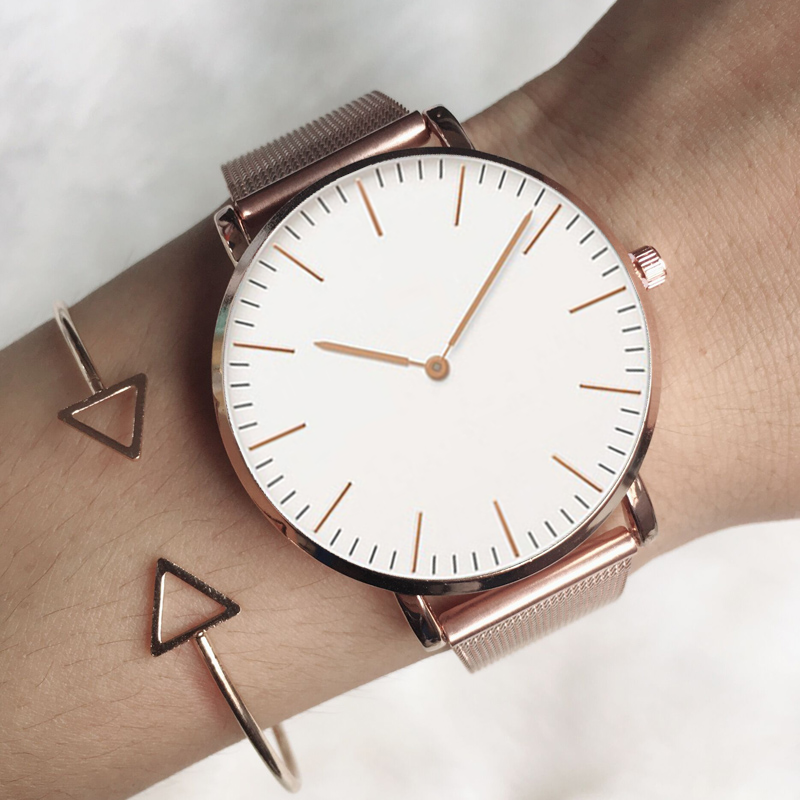 2020 Luxury Watch Women Simple Rose Gold Steel Women's Watches TOP Brand Luxury Ladies Quartz Watch Ladies Clock Zegarek Damski