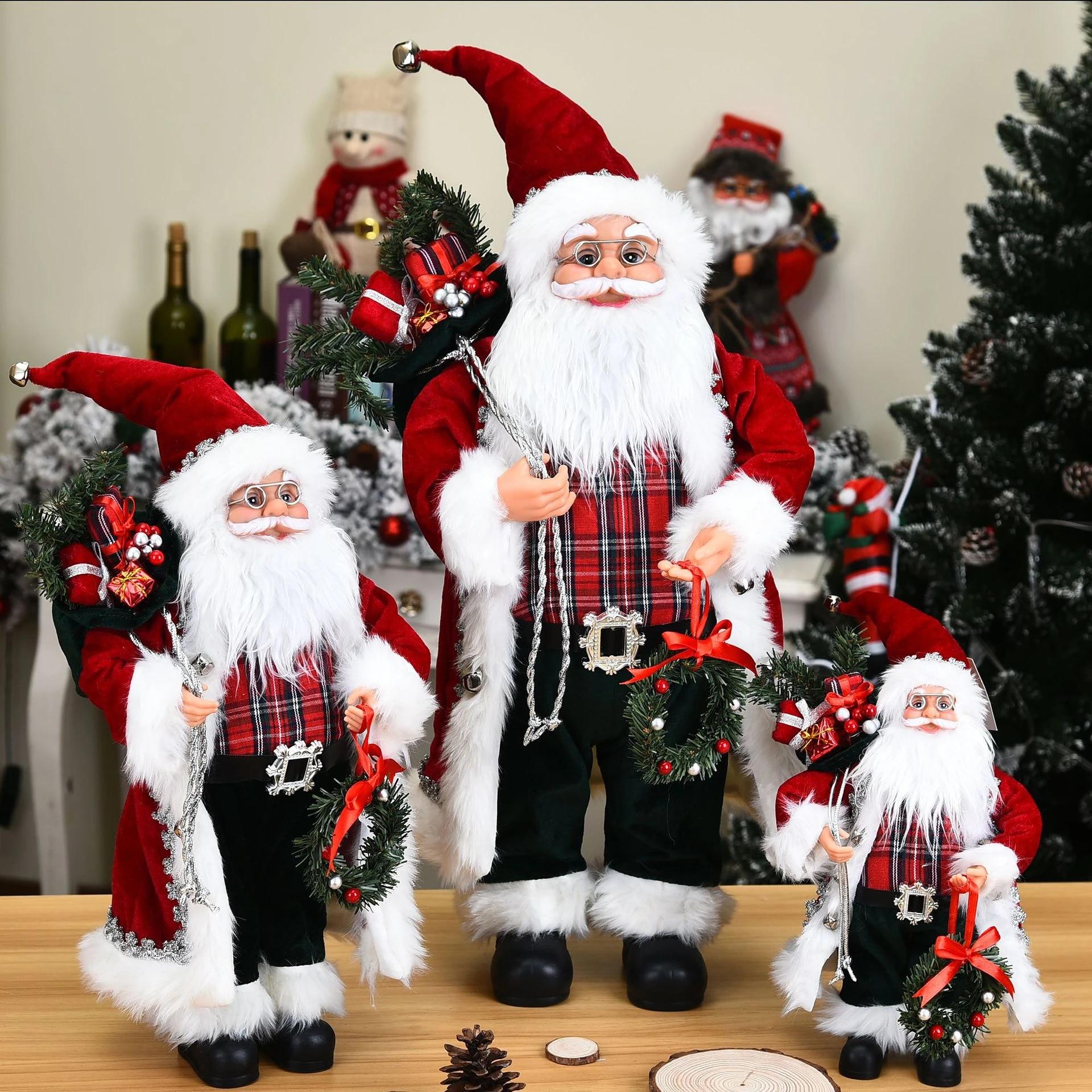 Christmas Ornaments 2021 Series End Christmas Decorations 2021 High End Simulation Santa Claus Figurine Window Scene Decor Creative Plush Santa Claus Toy Ornaments Party Diy Decorations Aliexpress
