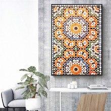 Modulare Bild Hause Erhalten Dekoration Marokkanischen Druck Terrakotta Ornament Poster Ethnische Zauberstab Kunst Leinwand Kunst Gebrannte O