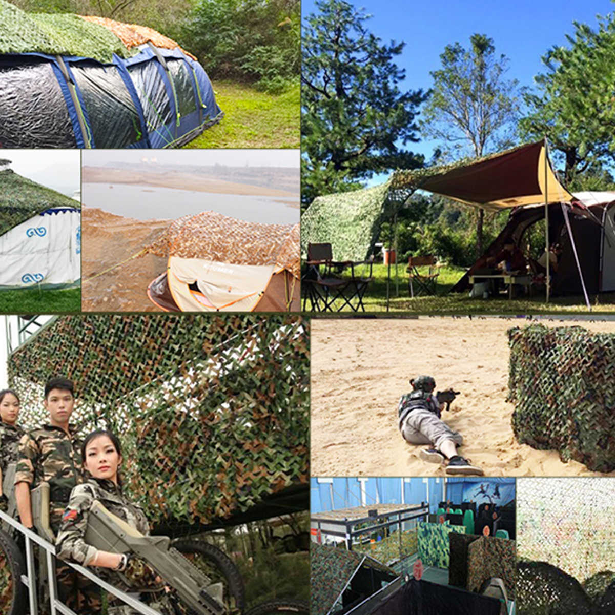 2x2 2x3 2x4 2x5 2x6 2x7 Hunting Military Camouflage Nets Woodland Army Camo netting Camping Sun ShelterTent Shade sun shelter