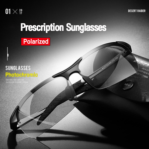 Image 2 - קוצר ראיה Photochromic משקפי שמש diopter מקוטב נהיגה goggle גברים זיקית שינוי צבע מעבר מרשם משקפיים שמש
