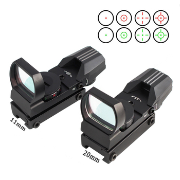 Tactical 11/20mm Red Green Dot Holographic Reflex Sight Optic Riflescope for Airsoft Air Gun Rifle Accessory Hunting  Caza 4