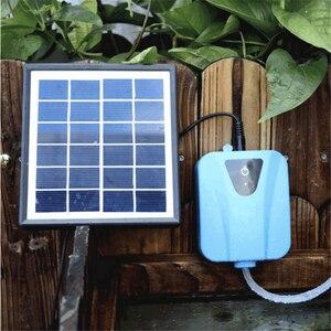 2 л/мин ультра-тихий кислородный насос на солнечных батареях для воды кислородный насос для пруда аэратор для аквариума воздушный насос для ...