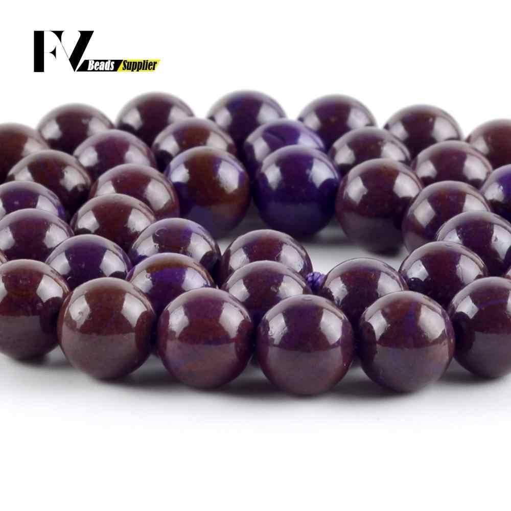 """Natürliche Lepidolite Stein Runde Lose Perlen 6 8 10 mm Spacer Perlen Für Schmuck Machen DIY Armband Halskette Zubehör 15 """"strang"""
