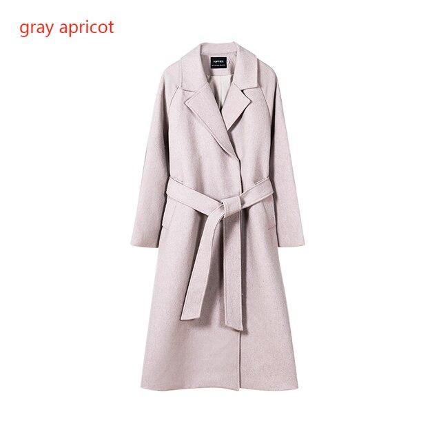 Toppies 2020 laine manteau femmes manteau long veste 50% laine coréenne dames outwear bouton couvert 5
