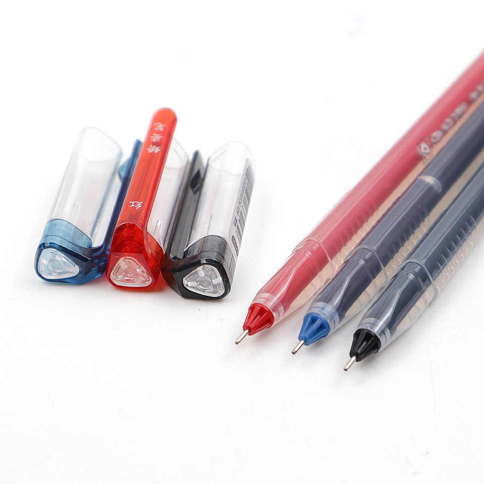 Jel kalem 0.5mm siyah/mavi/kırmızı/lacivert mürekkep yazma pürüzsüz plastik nötr kalem öğrenci için hediye okul ofis kırtasiye