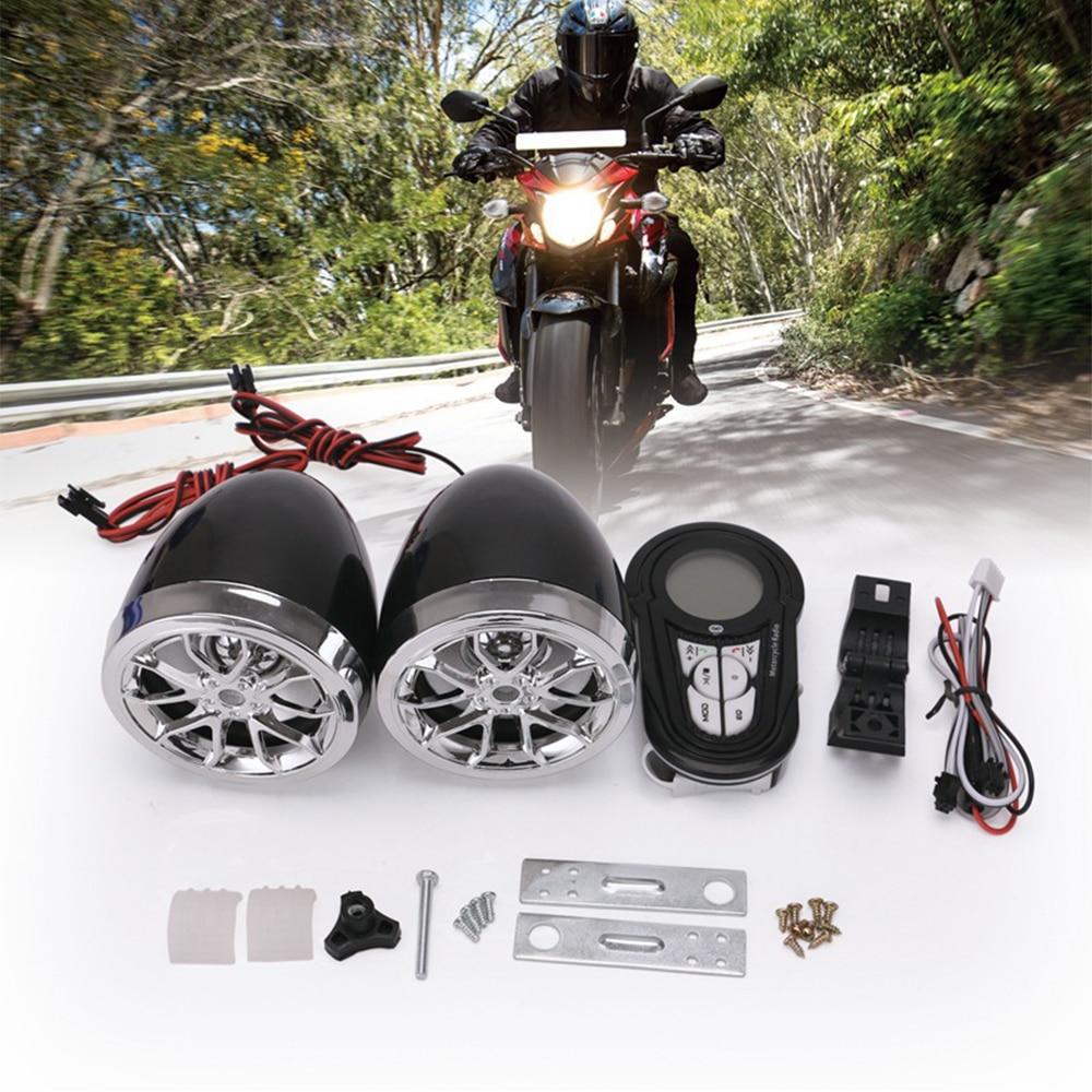 Image 3 - Waterproof Bluetooth Motorcycle Stereo Amplifier Speakers Handlebar Mount Audio Amp System for Harley ATV UTV RZR, AUX, FM RadioMotorcycle Audio   -