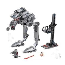 Bela 10912 388Pcs First Order AT-ST Building Blocks Bricks Kids Toys Gift Compatible With Star Wars 75201 цена