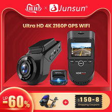 Junsun S590 WiFi 4K samochodu kreska Cam Ultra HD 2160P 60fps GPS ADAS kamera DVR rejestrator Sony 323 kamera tylna 1080P Night Vision(China)