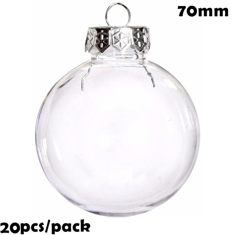 Акция-20 штук x DIY покраска/ударопрочный Прозрачный Рождественский украшение 70 мм пластиковый шар/шар