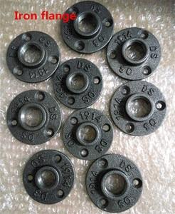 """Image 3 - 10 sztuk 1/2 """"3/4"""" czarne dekoracyjne ciągliwe żelazo podłoga/ściana kołnierz rurka z żeliwa ciągliwego armatura BSP gwintowany otwór"""