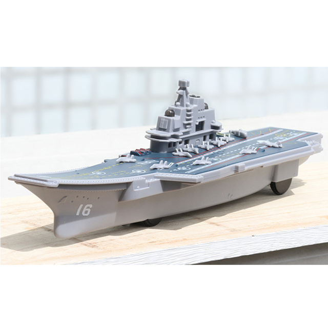 Electric Plastic Mini Aircraft Carrier Children Toy Model Birthday Gifts w/Light 5