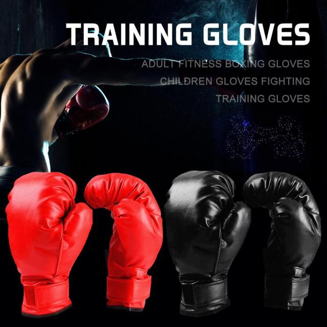 Professional Boxing Gloves PU Leather Liner Sponge R Flame Gloves Sanda Training Glove Fitness Boxing Gloves For Adults Kids 2
