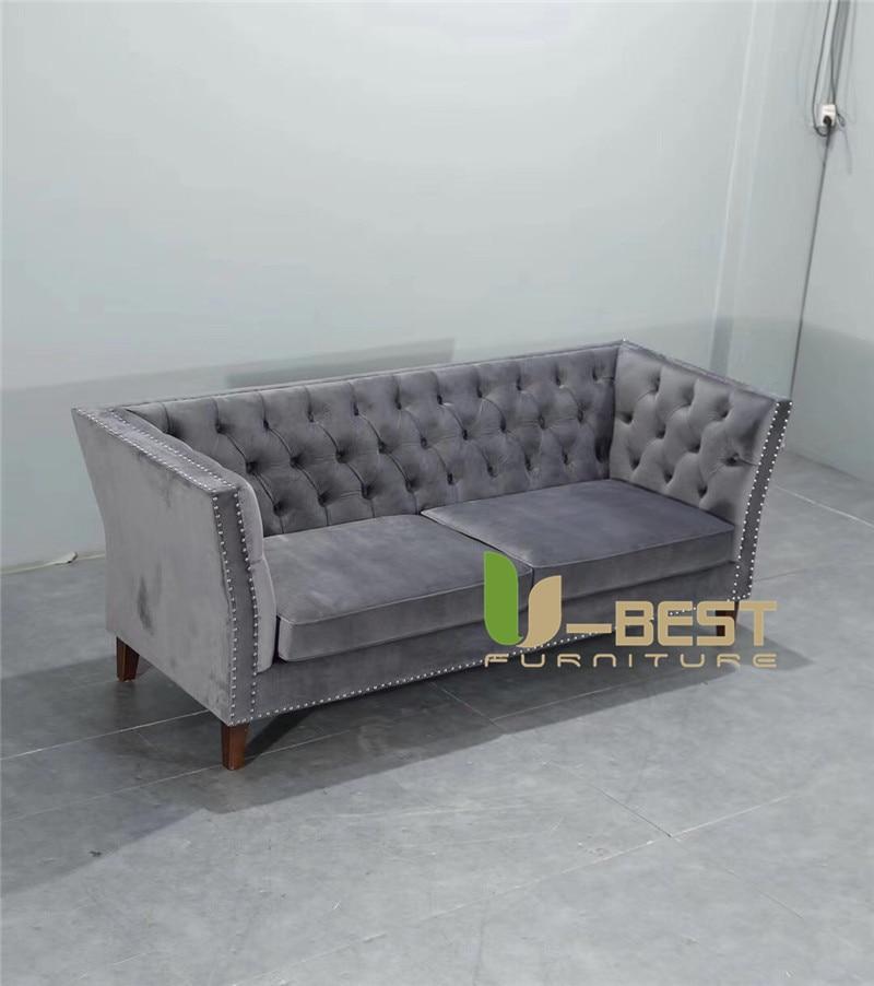 U-BEST furniture newest Fabric living room sofa Velvet designer sofa (2)